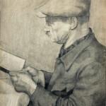 1949_5  Olvasó férfi - 61x43cm - Grafit,papír