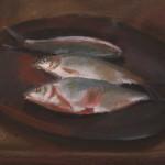 1955_30  Csendélet halakkal - 41x52cm - Pastel,papír