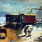 1958_107  Nagymarosi vándorcirkusz - 70x110cm - Olaj,vászon