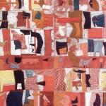 1968_32  Vörös faliszõnyeg - 175x169cm - Textil,juta