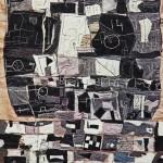 1968_35  Fekete szönyeg - 220x187cm - Textil,juta