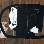 1969_19  Chemise noir - 50x65cm - Akril,collage,monotipia,papír
