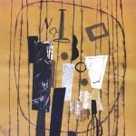 1969_20  Collage - 65x50cm - Akril,collage,monotipia,papír