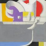 1971_62  Formes sculpturales I. - 19x24cm - Akril,vászon