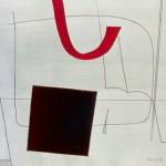 1973_21  Raum Konstruktion - 22.8x30.5cm - Gouache,grafit,papír