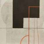 1974_23  Peinture sur fond gris I. - 46x55cm - Akril,vászon