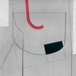 1974_26  Peintur sur fond gris - 90x114cm - Akril,vászon