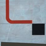 1977_89  Accent rouge - 55x74cm - Akril,grafit,gouache,papír