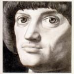 1984_8  Angyalföld Hercege - 10.2x10.2cm - Ezüst ceruza,papír