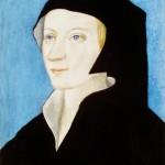 1985_109  Nõi fej Holbein után - 18x12cm - Aquarelle,gouache,karton