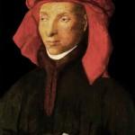 1985_111  Vörös kendõs férfi, Van Eyck után - 19x14cm - Aquarelle,tempera,karton
