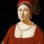 1985_40  Vörösruhás hölgy - 16x13.5cm - Aquarelle,tempera,papír