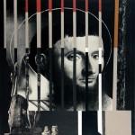1987_143_11  Karthausi szerzetes megkísértése, Petrus Christus nyomán (K) - 20x20cm - Collage,papír
