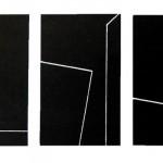 1989_135  Vonalritmusok - 10x25cm - Akril,papír