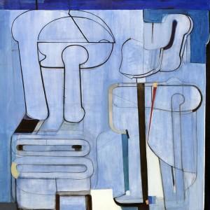 1973_49 - Kék kép - 150x150cm - Akril,vászon